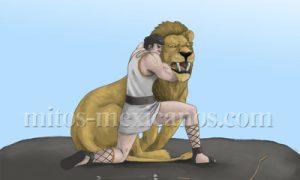 Hercules y el leon – Mito Griego