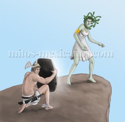 Mito griego Perseo y la Medusa
