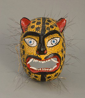 Mascara de la danza de los tecuanes en Mexico