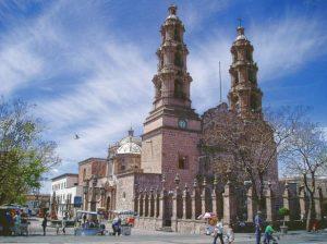 Catedral de Aguascalientes cerca de la Calle de la Buena Estrella