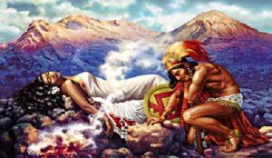 La triste imagen de los enamorados que se convirtieron en volcanes