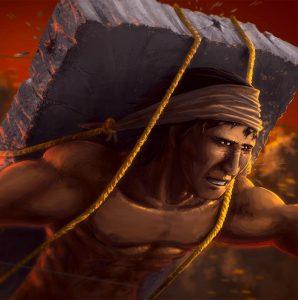 El valiente Pípila arremete contra la puerta de la Alhóndiga