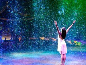 La hermosa Lluvia regando las milpas