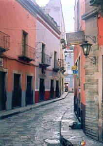 La Calle de la Paz en la Ciudad de Guanajuato.