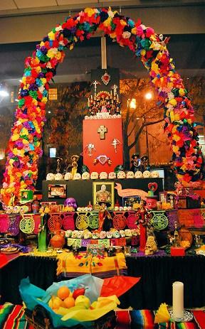 Dia de los muertos. Altar con arco