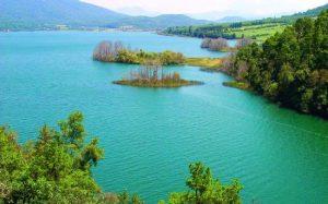 Vista del hermoso Lago de Zirahuen