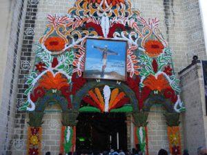 La iglesia donde se encuentra el Cristo de Totolapan