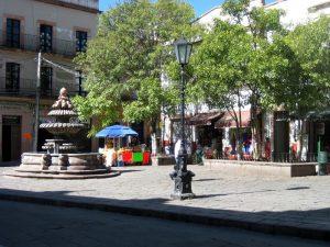 La Plaza Zamora en la Ciudad de Zacatecas