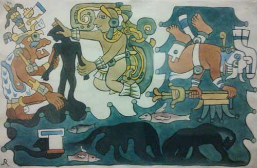 Tepeu y Gucumatz crean a los hombres mayas