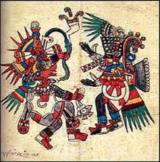 Quetzalcóatl en eterna lucha contra su hermano Tezcatlipoca. El bien contra el mal