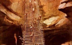 La escalera que lleva a los Pozos del Amor