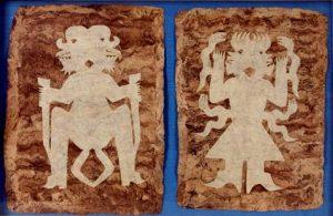 Figuras rituales de papel amate.