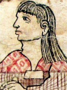Tecuelhuetzin en un códice.