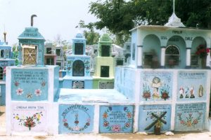 Una parcialidad del Cementerio de Hoctún.